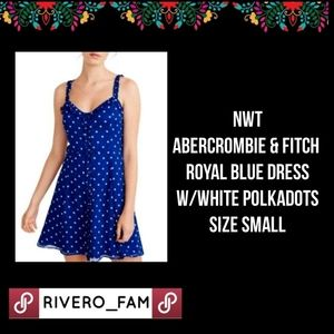 NWT | ABERCROMBIE & FITCH | ROYAL BLUE DRESS